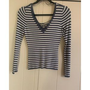 Guess Striped Sweater Top